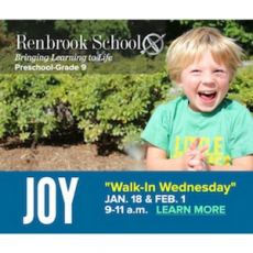 Walk-In Wednesday! (Learn more about Renbrook School!)