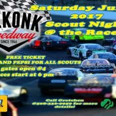 Nascar Racing Scout Night at The Speedway
