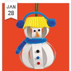Free Crafts for kids- Let's Build a Snowman