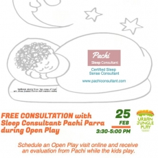 FREE CONSULTATION with Sleep consultant Pachi Parra during Open Play!