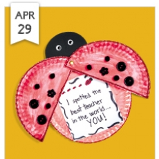 Free Crafts for Kids - Little Ladybug! Teacher Appreciation Card