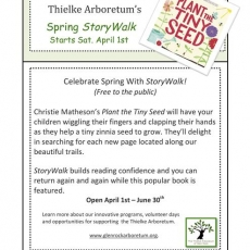 Spring Story Walk Opening Day