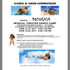 Moana Musical Theater Camp
