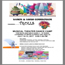 Trolls Musical Theater Camp