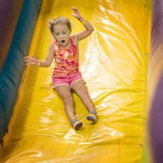Summer Open Inflatable Times in July at Pogo Play