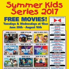 Free Summer Kids Movie Series