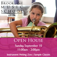 Brookline Music School's Open House Day
